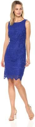 Chetta B Women's Sleeveless Framed Lace Sheath Dress