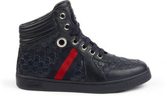 Children's leather Web high-top $355 thestylecure.com