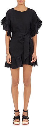 Isabel Marant Étoile Women's Delicia Linen Dress $425 thestylecure.com