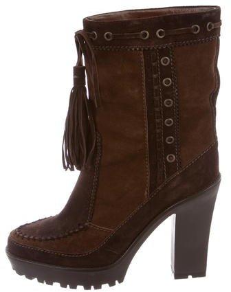 Saint LaurentYves Saint Laurent Bicolor Tassel-Accented Boots