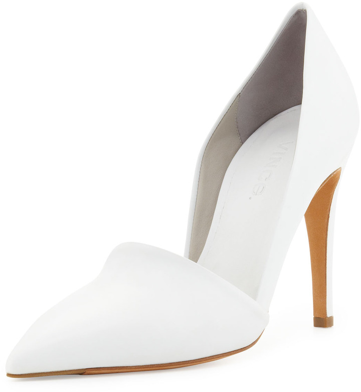 Vince Anya Pointed-Toe Pump, White