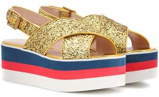 Gucci Glitter platform sandals