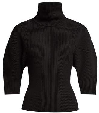 Khaite - Bret Merino Wool Roll Neck Sweater - Womens - Black