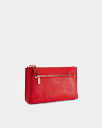 1f8654c5fbaa Ted Baker LORENZI Leather zip pocket wash bag