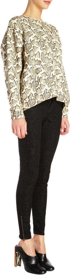 Stella McCartney Snake Jacquard Sweater