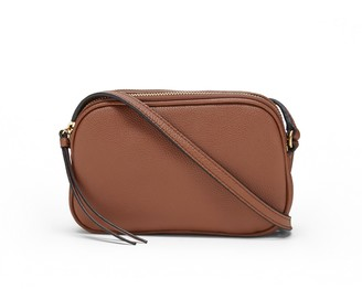 Banana Republic Leather Double Zip Camera Crossbody