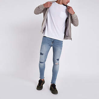 River Island Light blue Danny ripped super skinny jeans