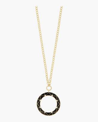 Amrapali Legend Chevron Circle Pendant Necklace