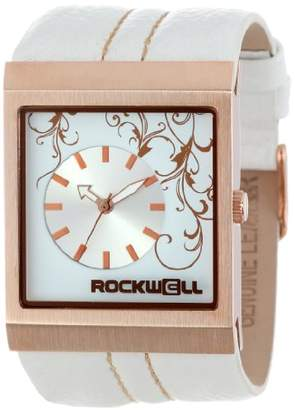 Rockwell Time ' Mercedes' Quartz Metal and Leather Dress Watch