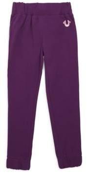True Religion Girl's Slub Cotton Sweatpants