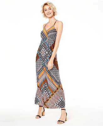 INC International Concepts Inc Printed Ring-Back Maxi Dress
