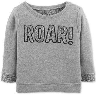 Carter's Baby Girls Roar-Print Sweatshirt