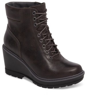 Women's Timberland Kellis Wedge Lace-Up Boot $149.95 thestylecure.com