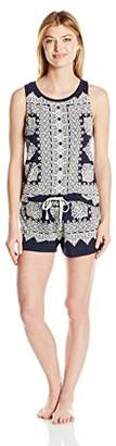 Lucky Brand Women's Muscle Tee Shorty Set