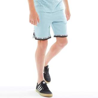 5e29f95ce1fc Converse Junior Boys Mitred French Terry Shorts Ocean Bliss