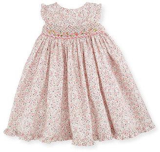 Luli & Me Sleeveless Floral Smocked Bishop Dress, Pink, Size 3-24 Months $82 thestylecure.com