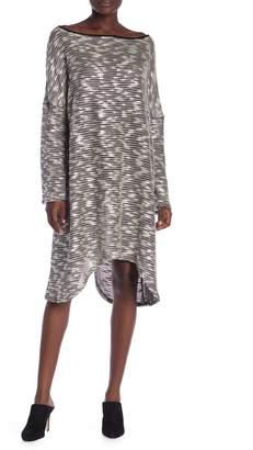 American Twist Long Sleeve Knit Asymmetrical Dress