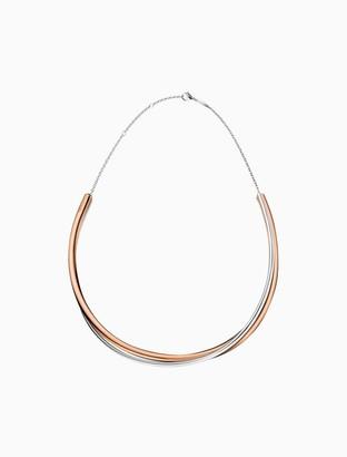 Calvin Klein double rose gold necklace