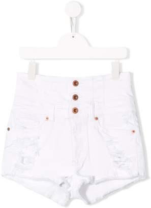 Diesel distressed button-up denim shorts
