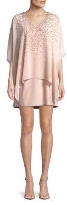 Xscape Evenings Petite Petite Beaded Overlay Dress