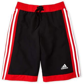 adidas Boys 8-20) Icon Tricot Stripe Board Shorts