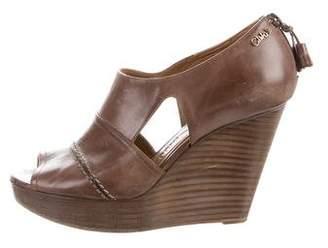Chloé Peep-Toe Platform Wedges