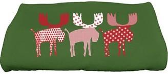 "E By Design Simply Daisy 28"" x 58"" Merry Moose Animal Print Bath Towel"
