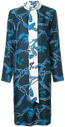 Tibi Renzo scarf print dress