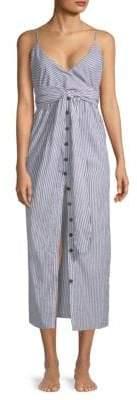 Mara Hoffman Thora Wrap Cotton Midi Dress