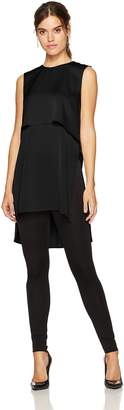 BCBGMAXAZRIA Women's Oliver Woven Layered Top with Flyaway Back