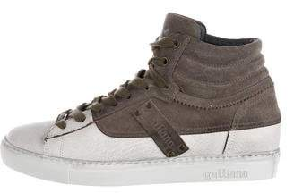 Galliano Leather High-Top Sneakers