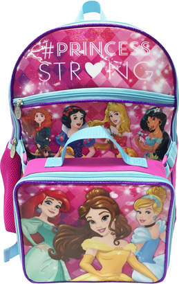 Disney Princesses Character Backpack & Lunchbox Set
