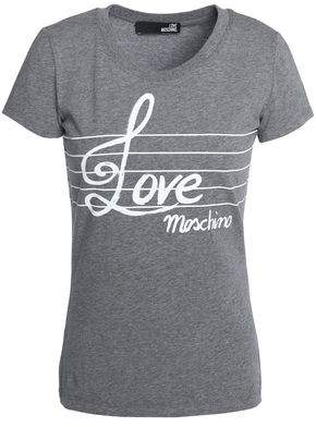 Love Moschino Printed Stretch Cotton-Jersey T-Shirt