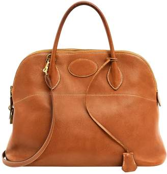 Hermes Vintage Bolide Camel Leather Handbag