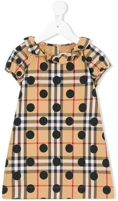 Burberry dotted check dress