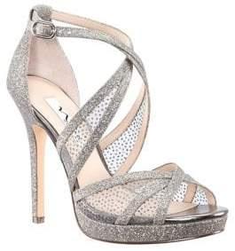 Nina Fenna Glitter Mesh Platform Sandals