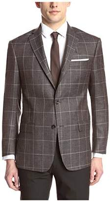 Franklin Tailored Men's Charcoal Windowpane Sport Coat