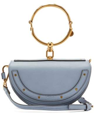 Chloé Nile Minaudiere Small Leather Cross Body Bag - Womens - Light Blue