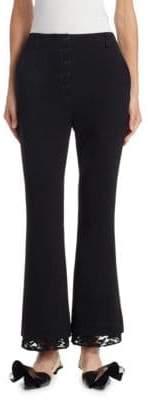 Proenza Schouler Lace-Trim Flared Pants