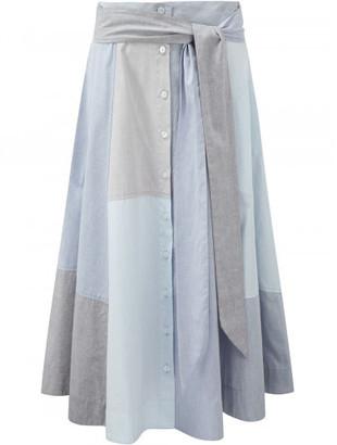 Lisa Marie Fernandez patchwork skirt $525 thestylecure.com