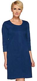 Liz Claiborne New York Knit Denim 3/4 SleeveDress