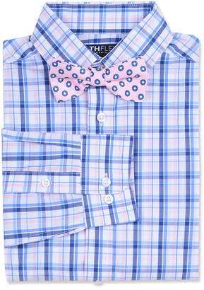 Tommy Hilfiger Big Boys Stretch Plaid Shirt & Dot Bow Tie