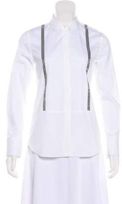Brunello Cucinelli Collar Button-Up Top