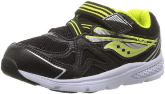 Saucony Kids Baby Ride Boy's Running Shoes, Black/Lime