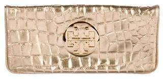 Tory Burch Embossed Leather Clutch