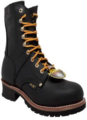"AdTec Men 9"" Steel Toe Logger Boot Men Shoes"