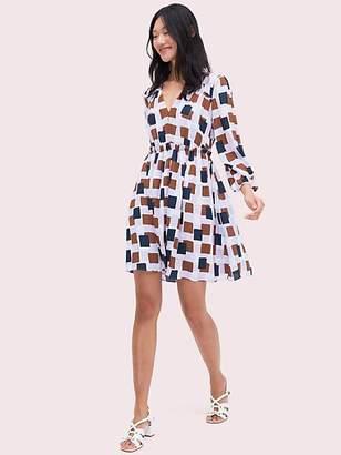 Kate Spade Geo Squares Mini Dress, Frozen Lilac - Size 0