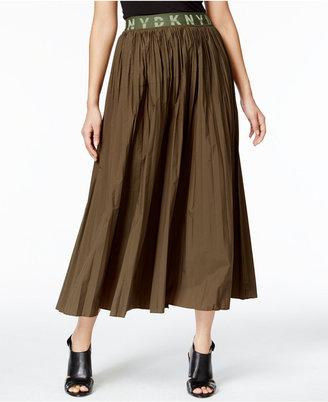 DKNY Pleated A-Line Skirt $398 thestylecure.com