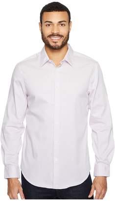Perry Ellis Subtle Zigzag Print Dress Shirt Men's Long Sleeve Button Up