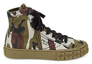 Prada Women's Camo High-Top Sneakers